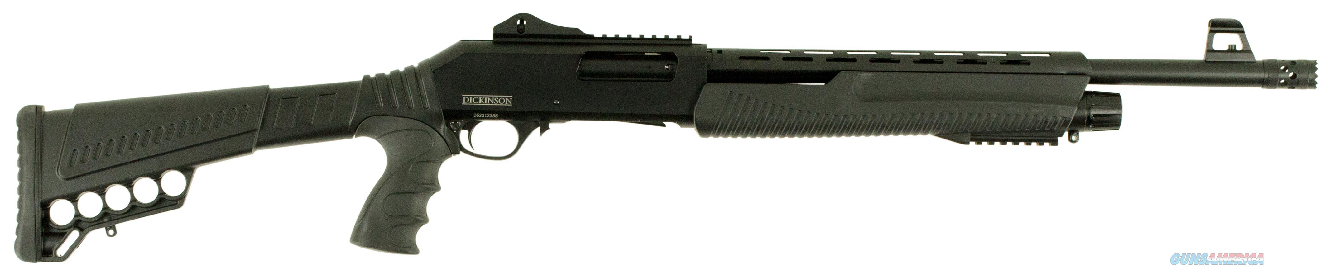 "Dickinson Xx3d2 Defense Pump 12 Gauge 18.5"" 3"" 5+1 Synthetic Black XX3D2  Guns > Shotguns > D Misc Shotguns"