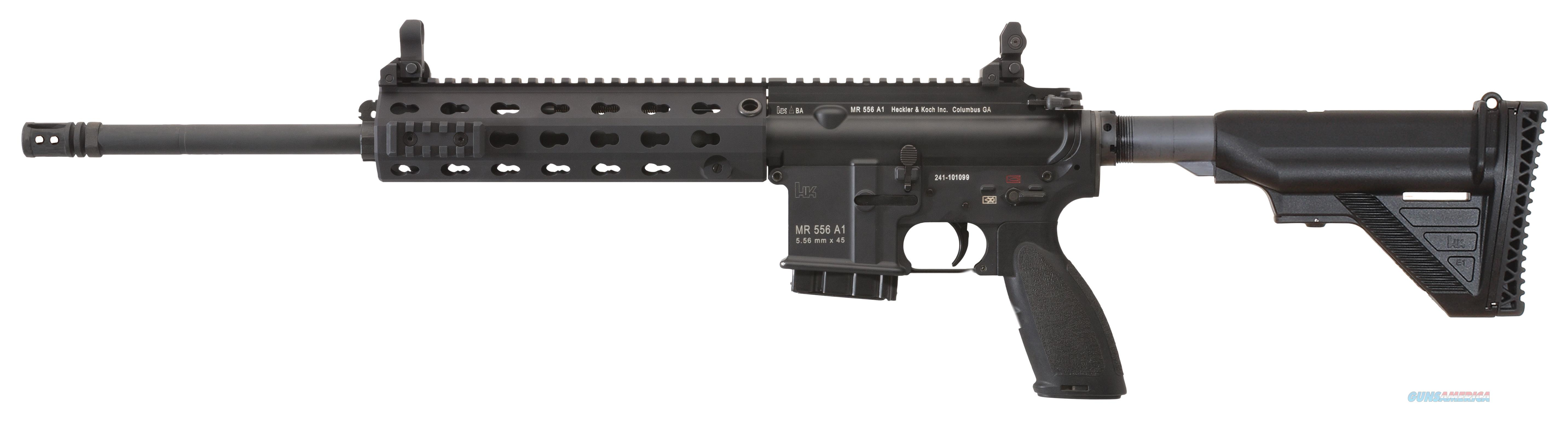 "Heckler & Koch Mr556lca1 Mr556 A1 Semi-Automatic 223 Remington/5.56 Nato 16.5"" Mb 10+1 Adjustable Black Stk Black MR556LCA1  Guns > Rifles > H Misc Rifles"