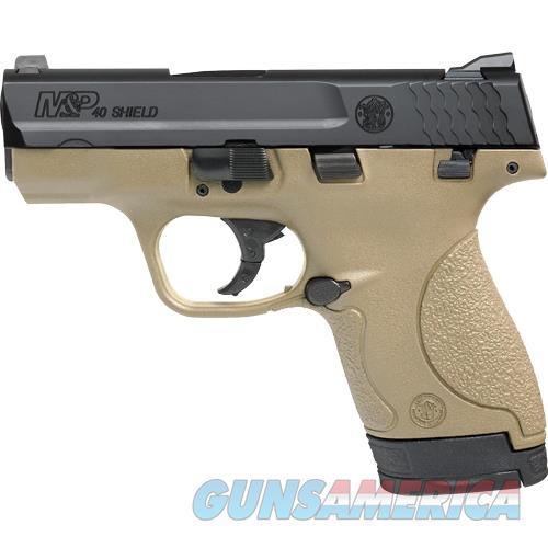 Smith & Wesson Shield M&P40 .40S&W Fs Black Slide Fde Frame Polymer< 10180  Guns > Pistols > S Misc Pistols