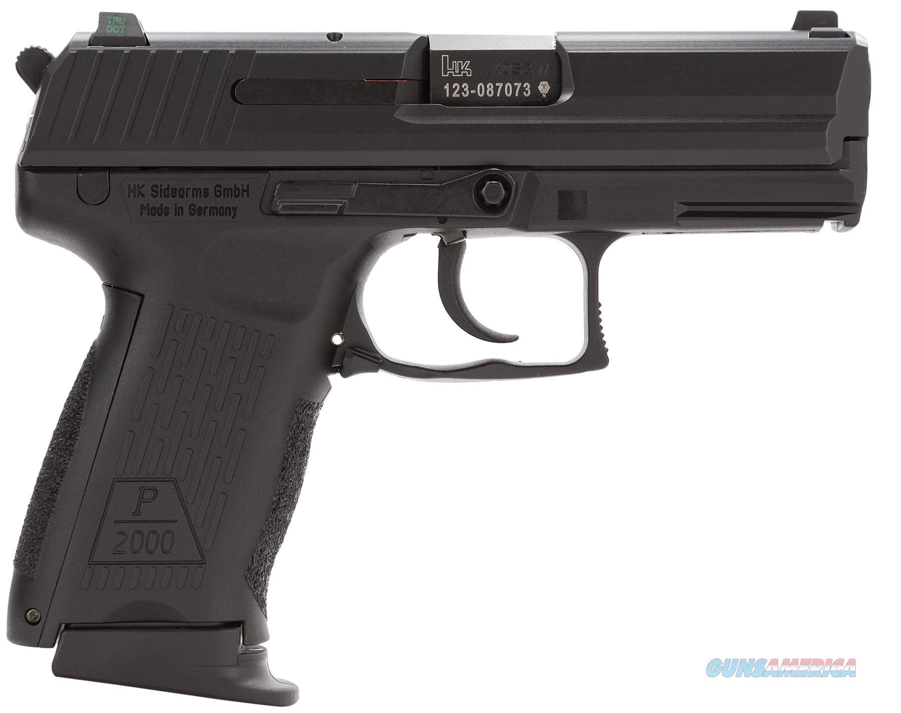 "Heckler & Koch 704303Lea5 P2000sk V3 *Ca/Ma Compliant* Single/Double 40 Smith & Wesson (S&W) 3.26"" 9+1 Black Interchangeable Backstrap Grip Black 704303LEA5  Guns > Pistols > H Misc Pistols"