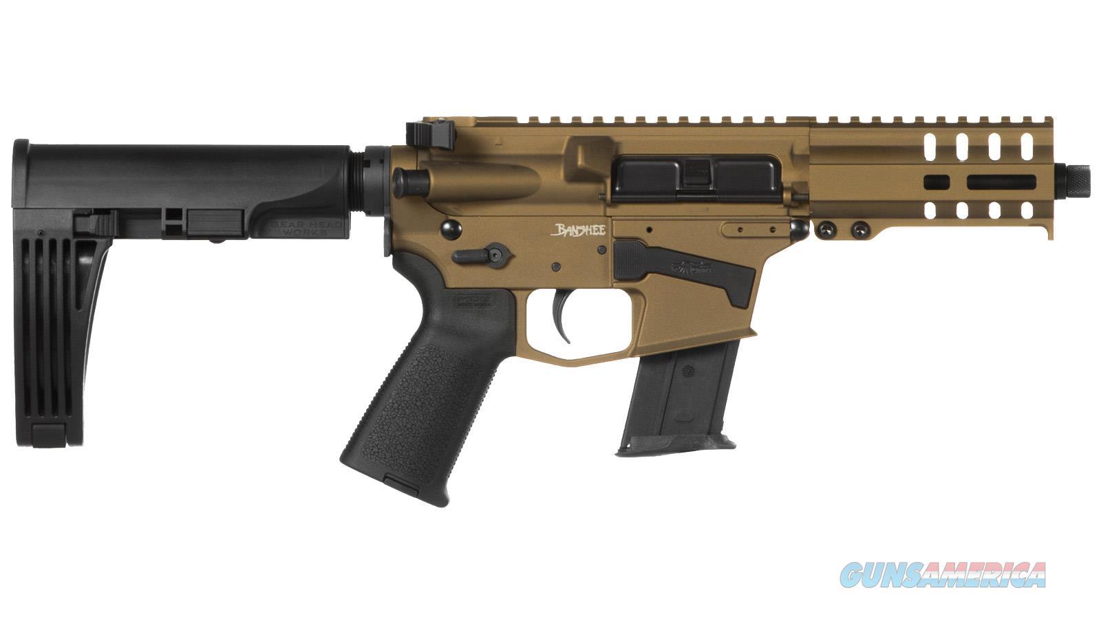 "Cmmg Banshee Pistol 5.7X28mm 5"" 20Rd Bur. Bronze Mlok Brace 57A18CD-BB  Guns > Pistols > C Misc Pistols"