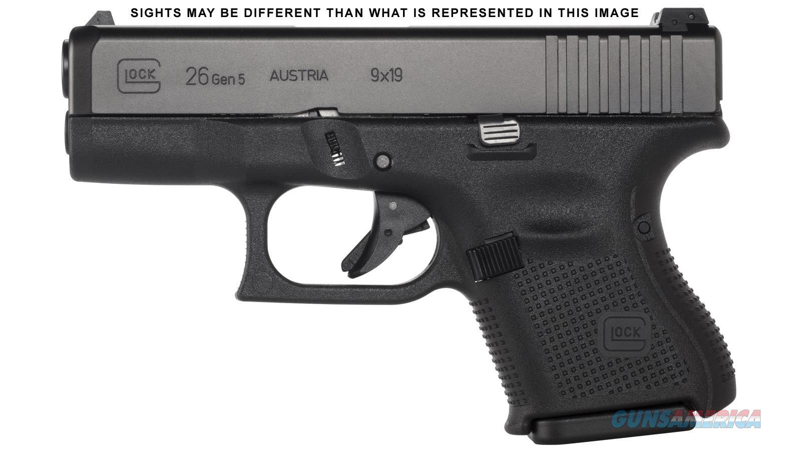 "Glock G26 Gen5 9Mm 3.4"" 10Rd PA2650301AB  Guns > Pistols > G Misc Pistols"