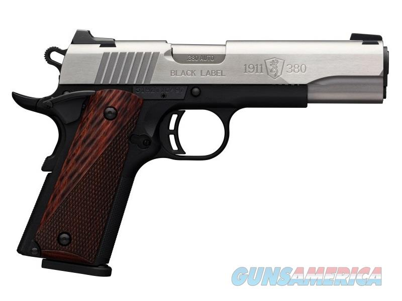 Browning 1911-380 380Acp 8Rd 4.25 Black Label Ss 051930492  Guns > Pistols > B Misc Pistols