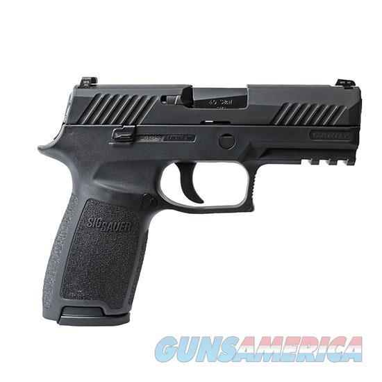 "Sig Sauer 320Ca45b P320 Carry Double 45 Automatic Colt Pistol (Acp) 3.9"" 10+1 Black Polymer Grip/Frame Grip Black Nitron Stainless Steel 320CA-45-B  Guns > Pistols > S Misc Pistols"