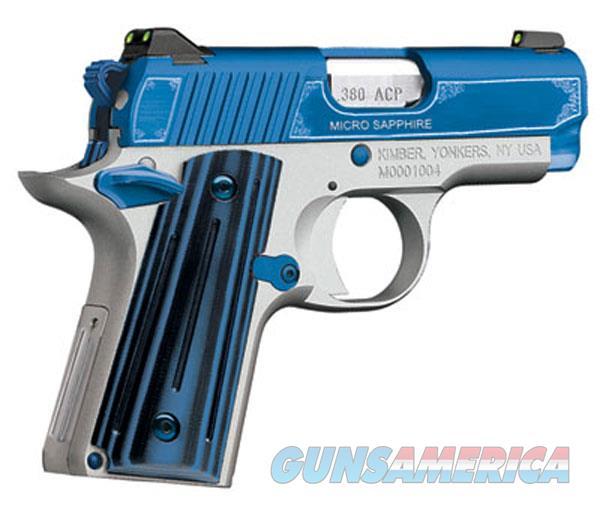 Kimber 380Acp Micro Sapphire KIM3300090  Guns > Pistols > K Misc Pistols