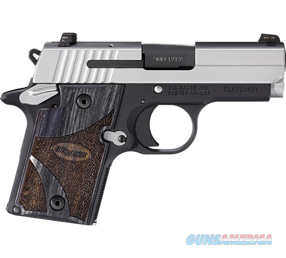 Sig Sauer P938 9Mm Blackwood 2Tone Ns Ambisafety 6Rd 938-9-BG-AMBI  Guns > Pistols > S Misc Pistols