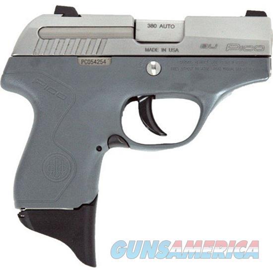 Beretta Pico Inox 380 Acp Gray 6 Rd JMP8D95  Guns > Pistols > B Misc Pistols