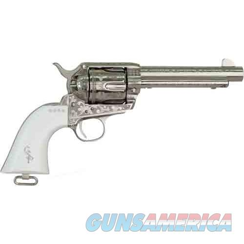 "Cimarron Firearms George Patton V2.45Lc Pw Fs 5.5"" Engraved Nickel< PP411LNPTII  Guns > Pistols > C Misc Pistols"