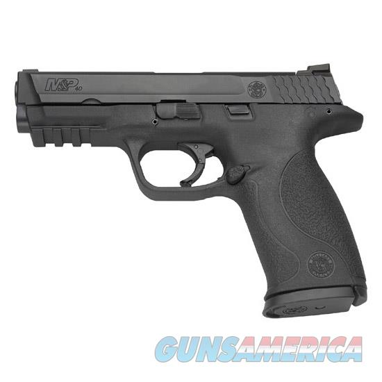 """Smith & Wesson 109350 M&P 40 *Ma Compliant*  40 Smith & Wesson (S&W) Double 4.25"""" 10+1 Nms Black Interchangeable Backstrap Black Polymer Frame Black Armornite Stainless Steel Slide 109350  Guns > Pistols > S Misc Pistols"""
