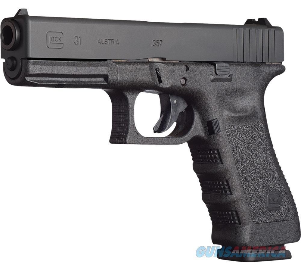 Glock G31 Standard Semi Auto Pistol 357 Sig, 4.48 In, Poly Grp, 10+1 Rnd, Fixed, Full Sz Blk Frame PI3150201  Guns > Pistols > G Misc Pistols