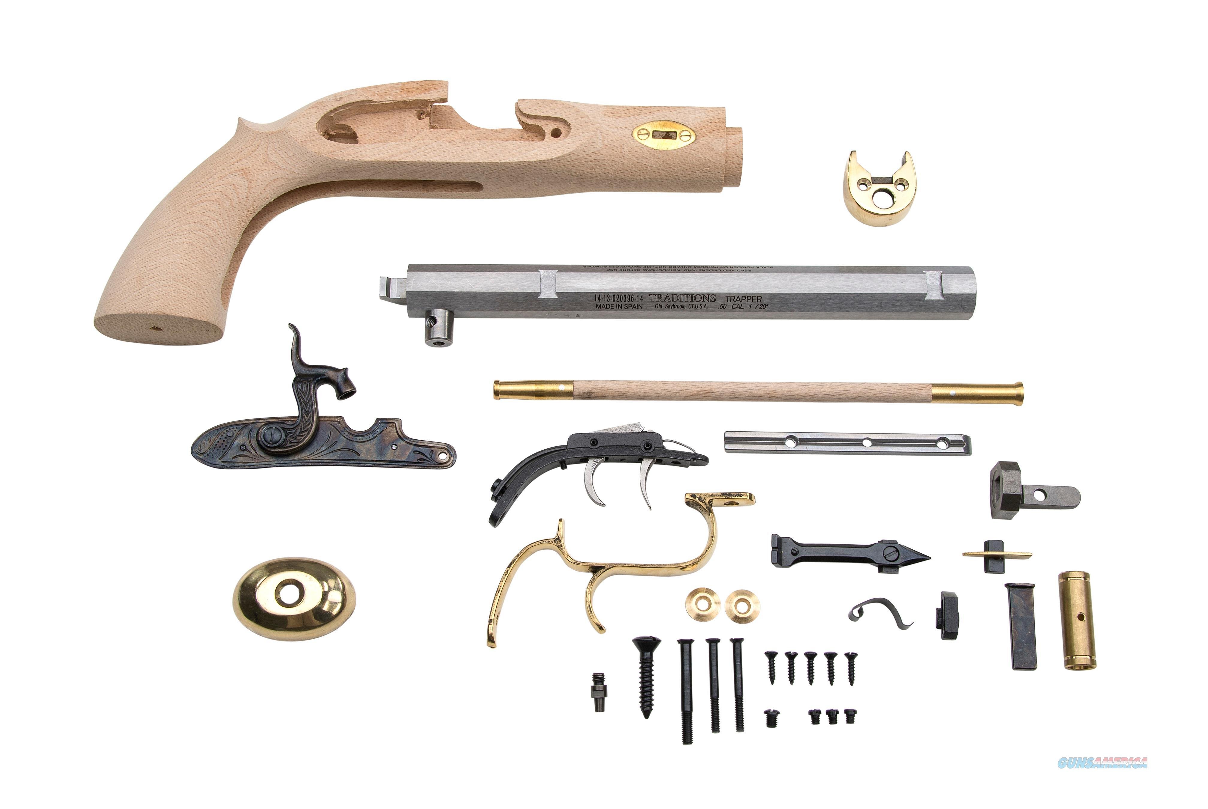 "TRADITIONS TRAPPER PSTL KIT .50/9.75"" KPC51002  Non-Guns > Black Powder Muzzleloading"