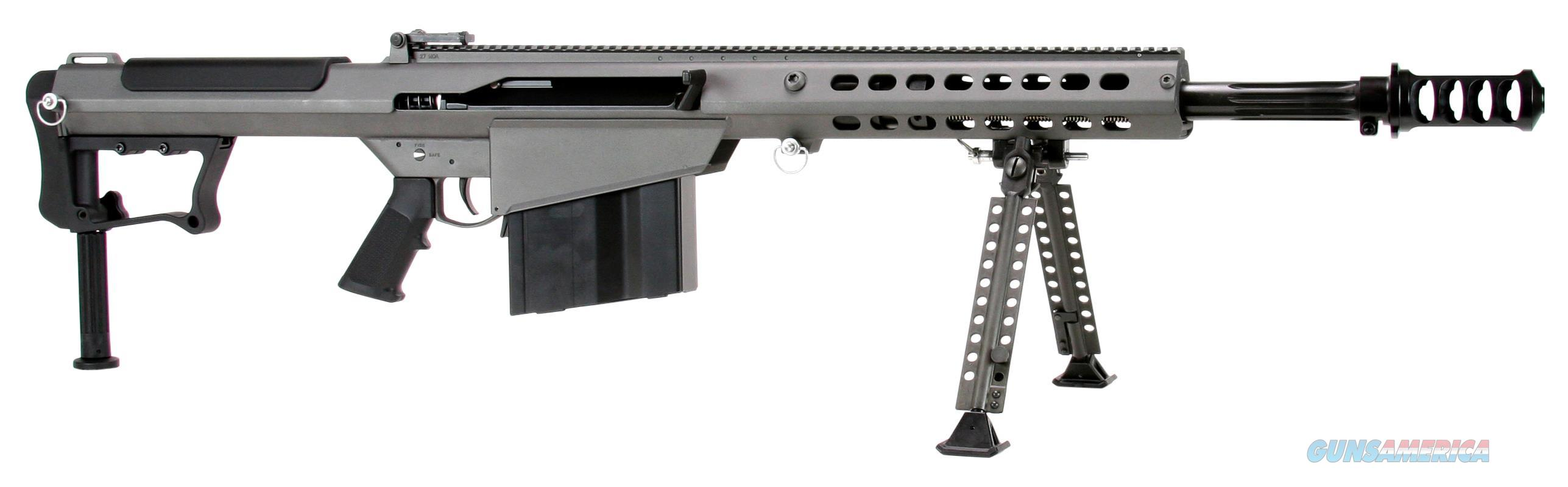 "Barrett 14552 M107 A1 Semi-Automatic 50 Browning Machine Gun (Bmg) 20"" 10+1 Fixed Metal Gray Stk Gray Cerakote/Black Parkerized 14552  Guns > Rifles > B Misc Rifles"