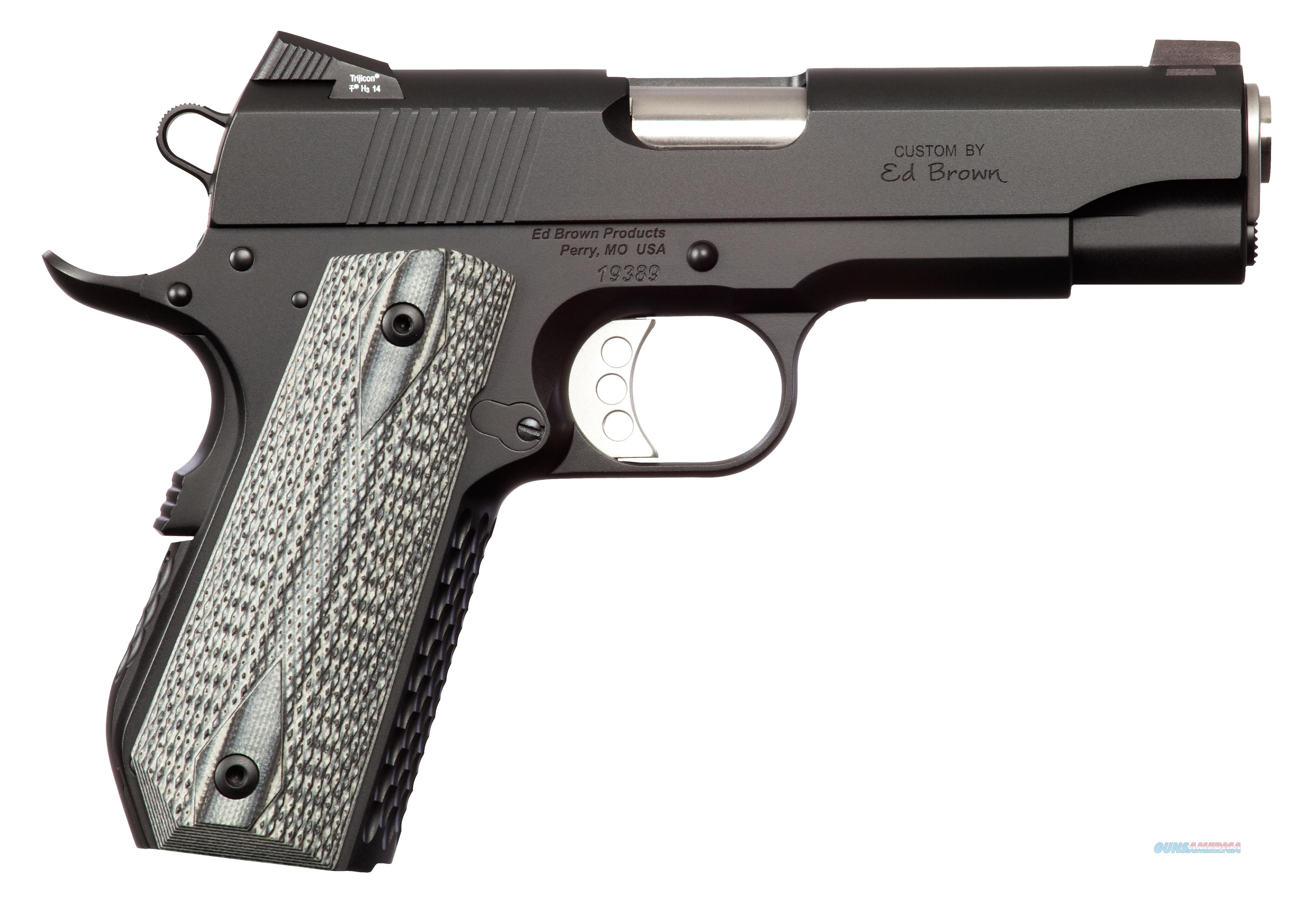 "ED BROWN AC-SS-G4 ALPHA CARRY GEN4 SAO 45 ACP 4.3"" 7+1 POLY GRIP BLACK ACSSG4  Guns > Pistols > Ed Brown Pistols"