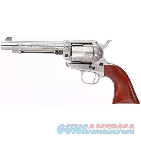 TAYLOR'S & CO UBERTI 1873 CATTLEMAN 45LC FLORAL ENGRAVED 711AWE  Guns > Pistols > TU Misc Pistols