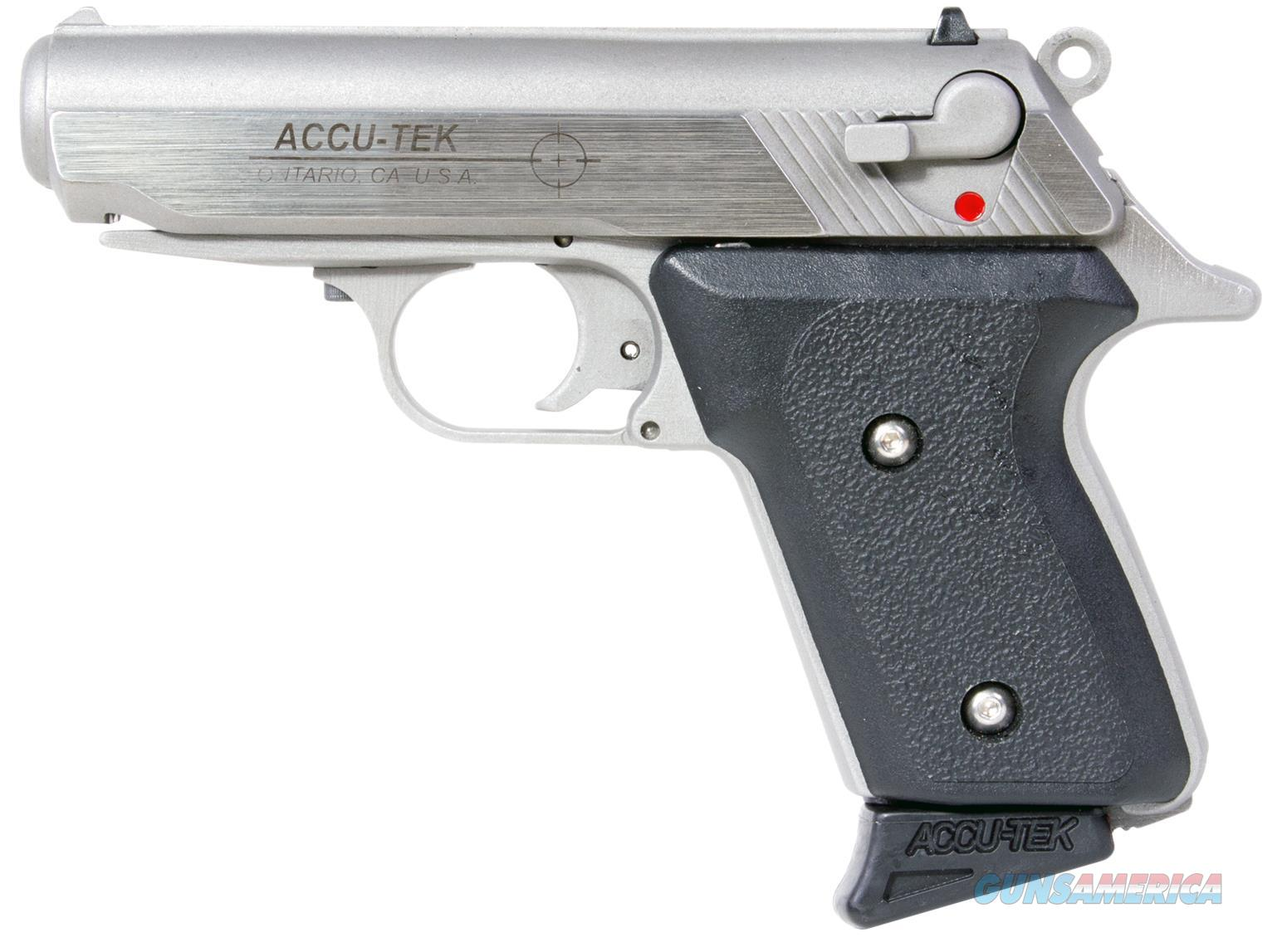 "Excel At38101 Accu-Tek At-380 Ii Single 380 Automatic Colt Pistol (Acp) 2.8"" 6+1 Blk Synthetic Grip Ss AT38101  Guns > Pistols > A Misc Pistols"