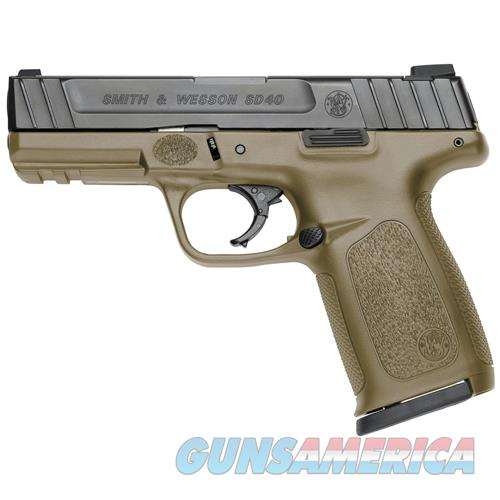 "Smith & Wesson Sd40 .40S&W 4"" Fs 14-Shot Fde Frame Matte Black Slide G11999  Guns > Pistols > S Misc Pistols"
