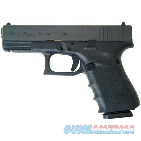 Glock G19 Gen4 Semi-Auto Pistol 9Mm, 4 In, Poly Grp, 15+1 Rnd, Fixed, Compact Blk Frame, Short Trgr PG1950203  Guns > Pistols > G Misc Pistols