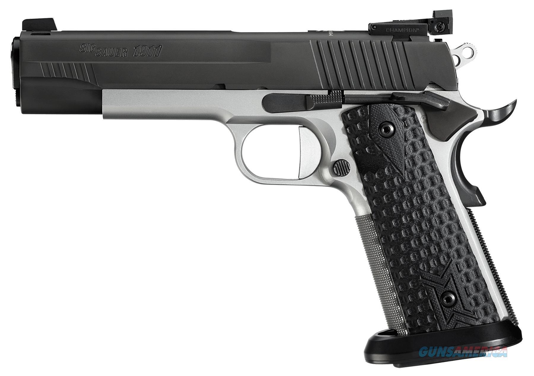 "Sig Sauer 191145Maxm 1911 Full Size Max Single 45 Automatic Colt Pistol (Acp) 5"" 8+1 Black Hogue Custom G10 Grip Black Nitron Stainless Steel 1911-45-MAXM  Guns > Pistols > S Misc Pistols"