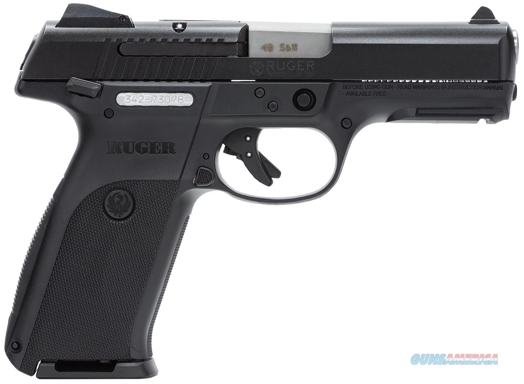 Ruger Centerfire Pistol Sr40~ 40 S&W 4.1'' Bbl Black 3471  Guns > Pistols > R Misc Pistols