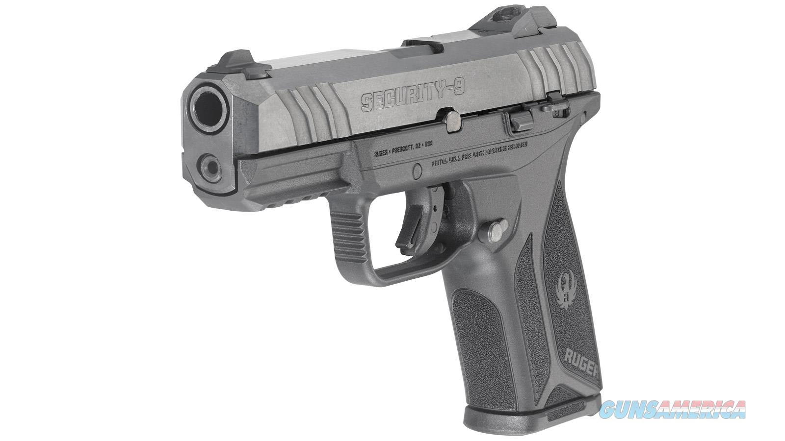 "Ruger Security-9 Semi Auto Pistol 9Mm 4"" Black 10Rd Adj. Sights 3811  Guns > Pistols > R Misc Pistols"