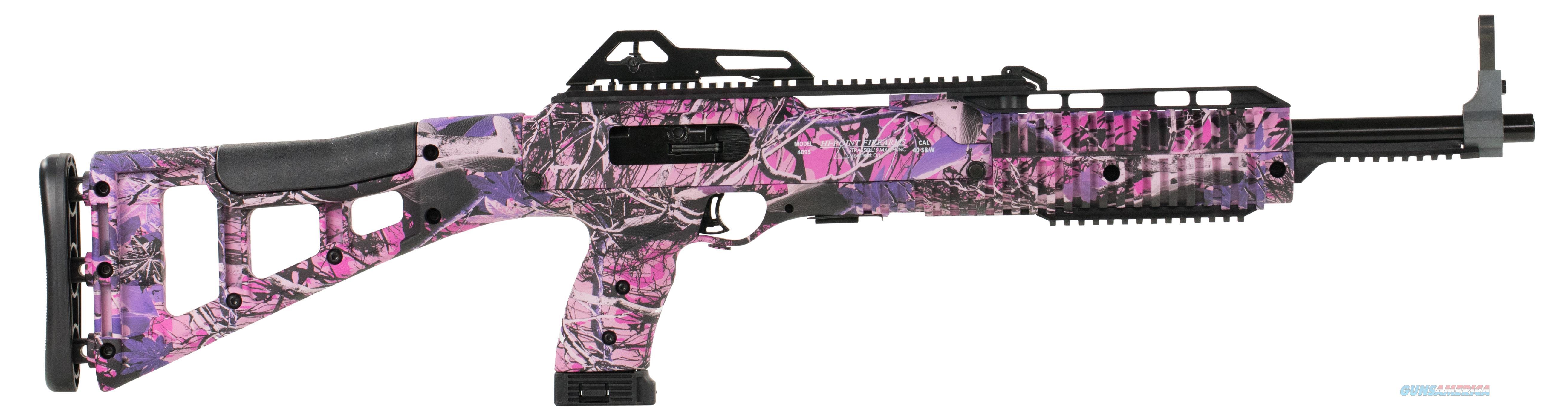 """Hi-Point 4095Tspi 4095Ts Carbine  Semi-Automatic 40 Smith & Wesson (S&W) 17.5"""" 10+1 Polymer Skeleton Country Girl Camo Stk Country Girl Camo 4095TSPI  Guns > Rifles > H Misc Rifles"""