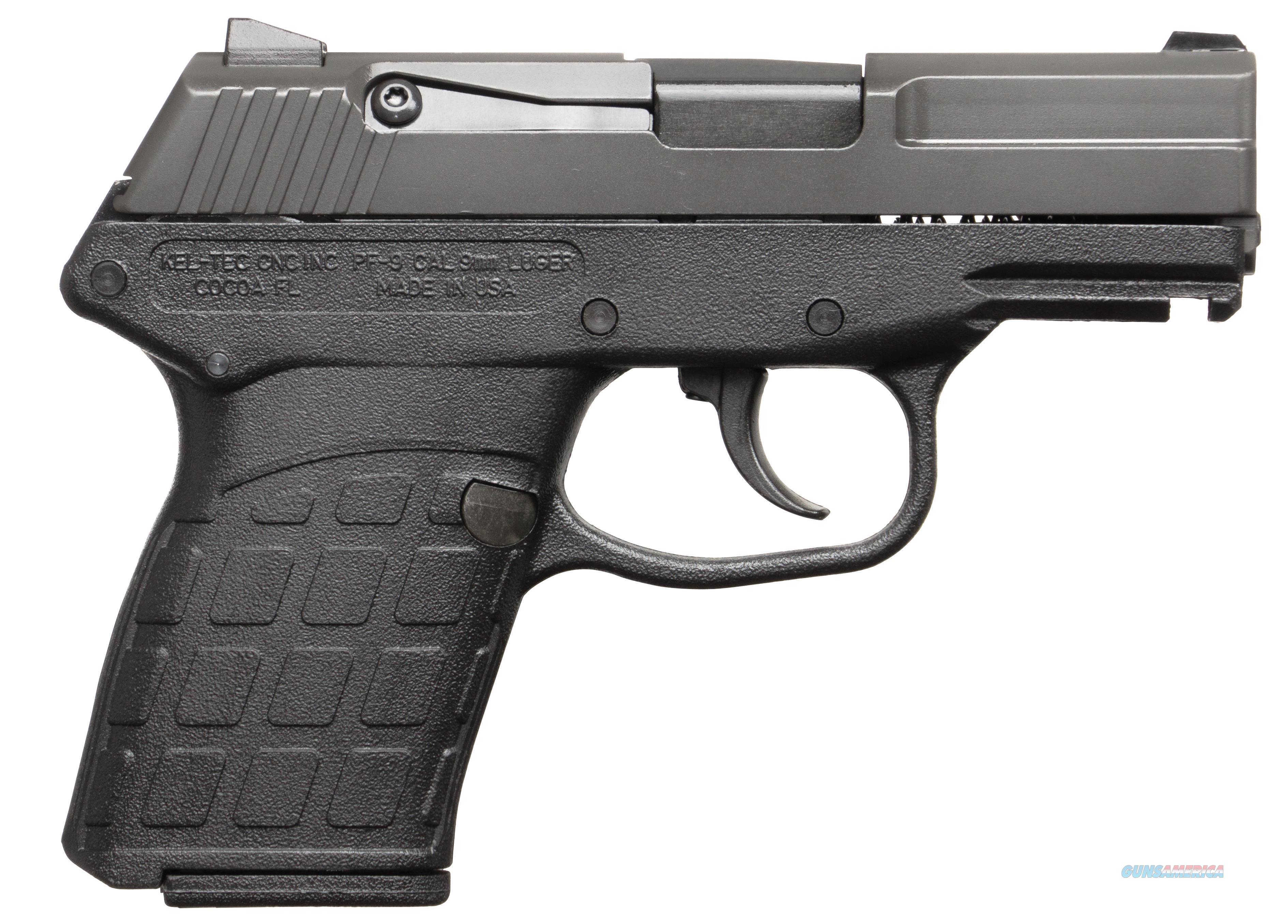 "Kel-Tec Pf9pkblk Pf-9 9Mm 3"" 7+1 Black Poly Grip Parkerized Finish PF9PKBLK  Guns > Pistols > K Misc Pistols"