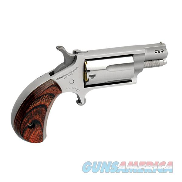 """Naa Naa22mscp 22 Magnum Ported 1.125"""" With 22 Lr Cylinder Single 22 Winchester Magnum Rimfire (Wmr) 1.1"""" 5 Rosewood Stainless NAA-22MSC-P  Guns > Pistols > North American Arms Pistols"""