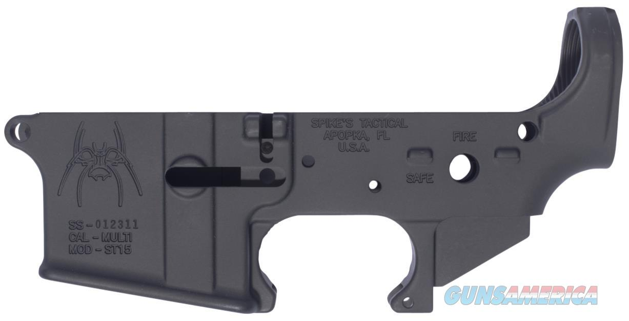 Spikes Stls018 Stripped Lower Spider Ar-15 Rifle Multi-Caliber Black Hardcoat Anodized STLS018  Guns > Rifles > S Misc Rifles