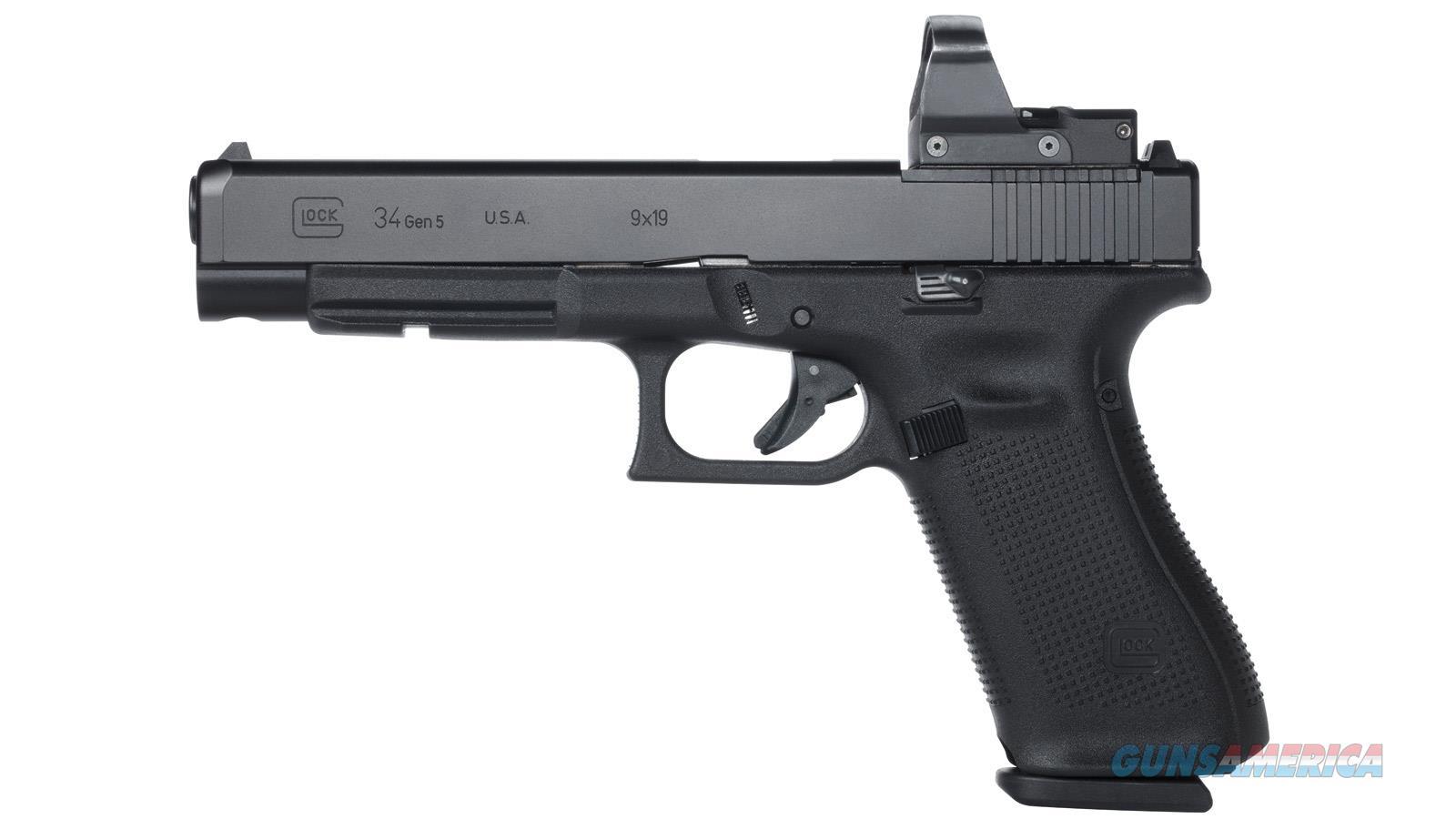 Glock 34 9Mm Luger Gen-5 Mos As 17-Shot Black UA3430103MOS  Guns > Pistols > G Misc Pistols