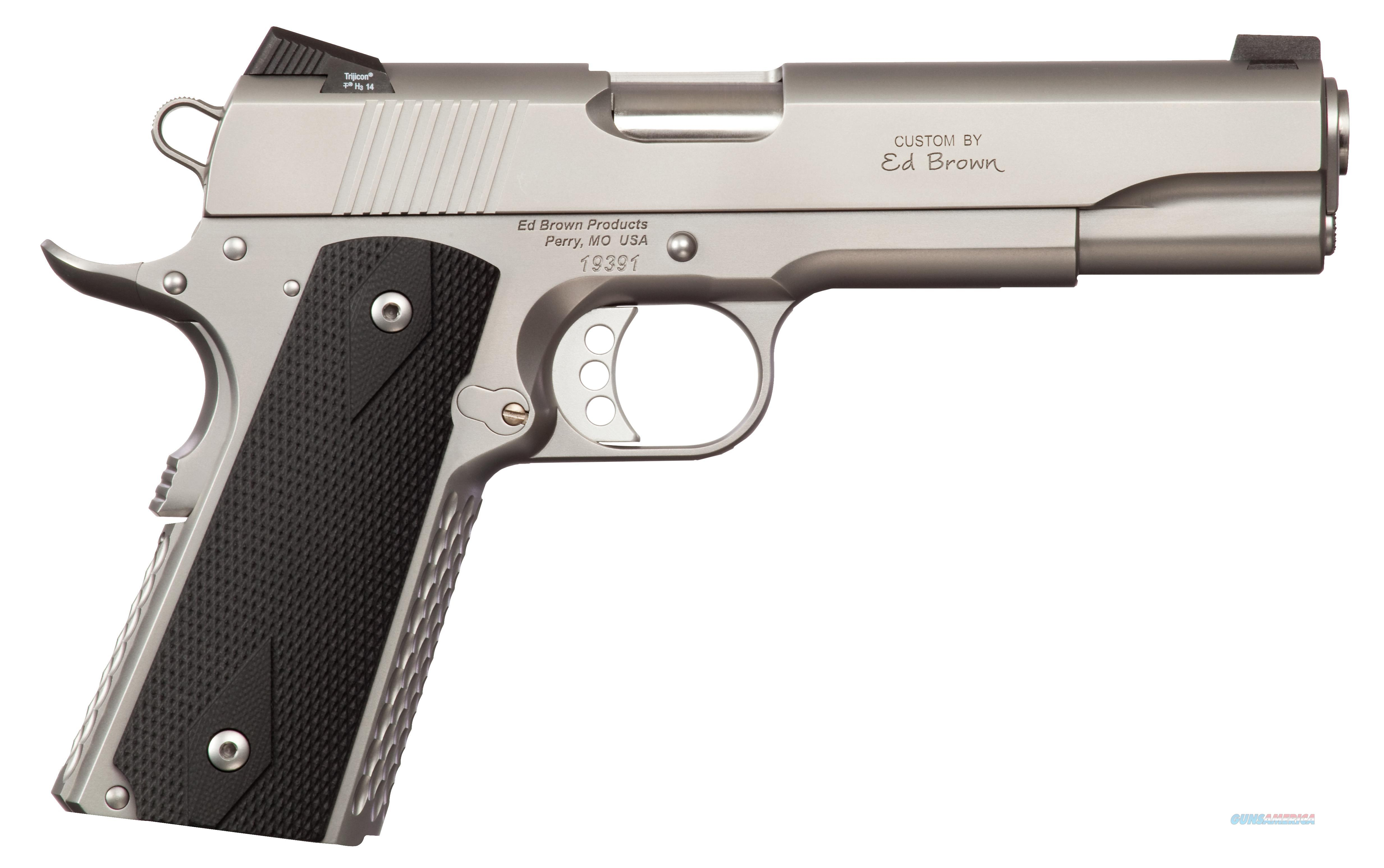"Ed Brown Ae-Ss Alpha Elite Single 45 Acp  5"" 7+1 Black Poly Grip Stainless Steel AESS  Guns > Pistols > E Misc Pistols"