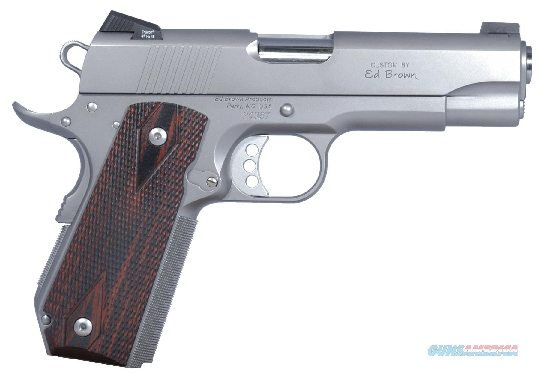 "ED BROWN ECSS EXECUTIVE CARRY SOA 45 ACP 4.2"" 7+1 LAMINATE WOOD GRIP STAINLESS ECSS  Guns > Pistols > E Misc Pistols"