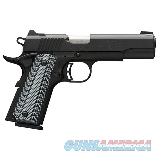 BROWNING 1911-380 380ACP BLK LABEL G10 FS 3-DOT 051900492  Guns > Pistols > Browning Pistols > Other Autos