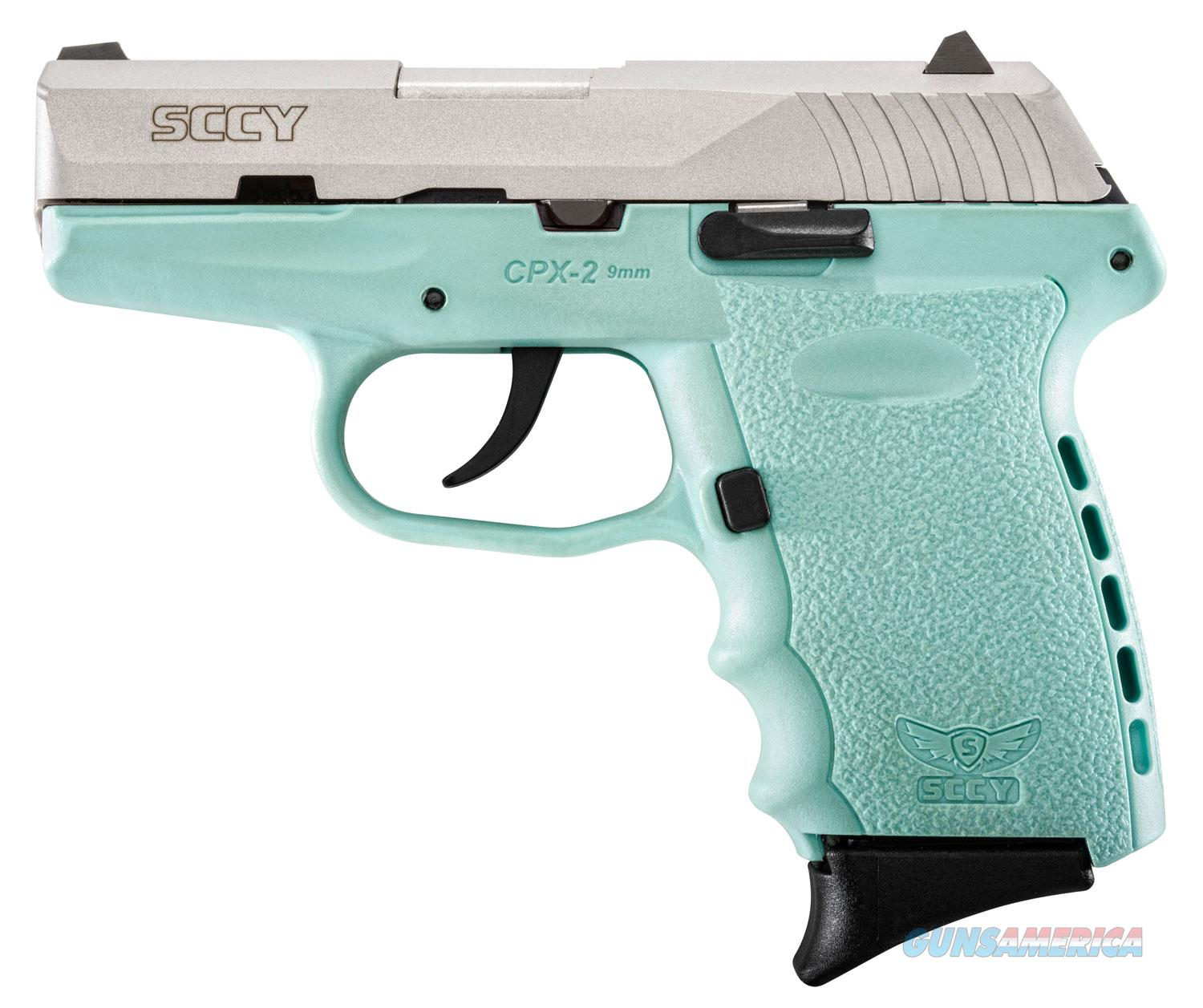 Sccy Industries Cpx-2 9Mm 3.1 10Rd Duo Tone Ss Blue Frame CPX2-TTSB  Guns > Pistols > S Misc Pistols