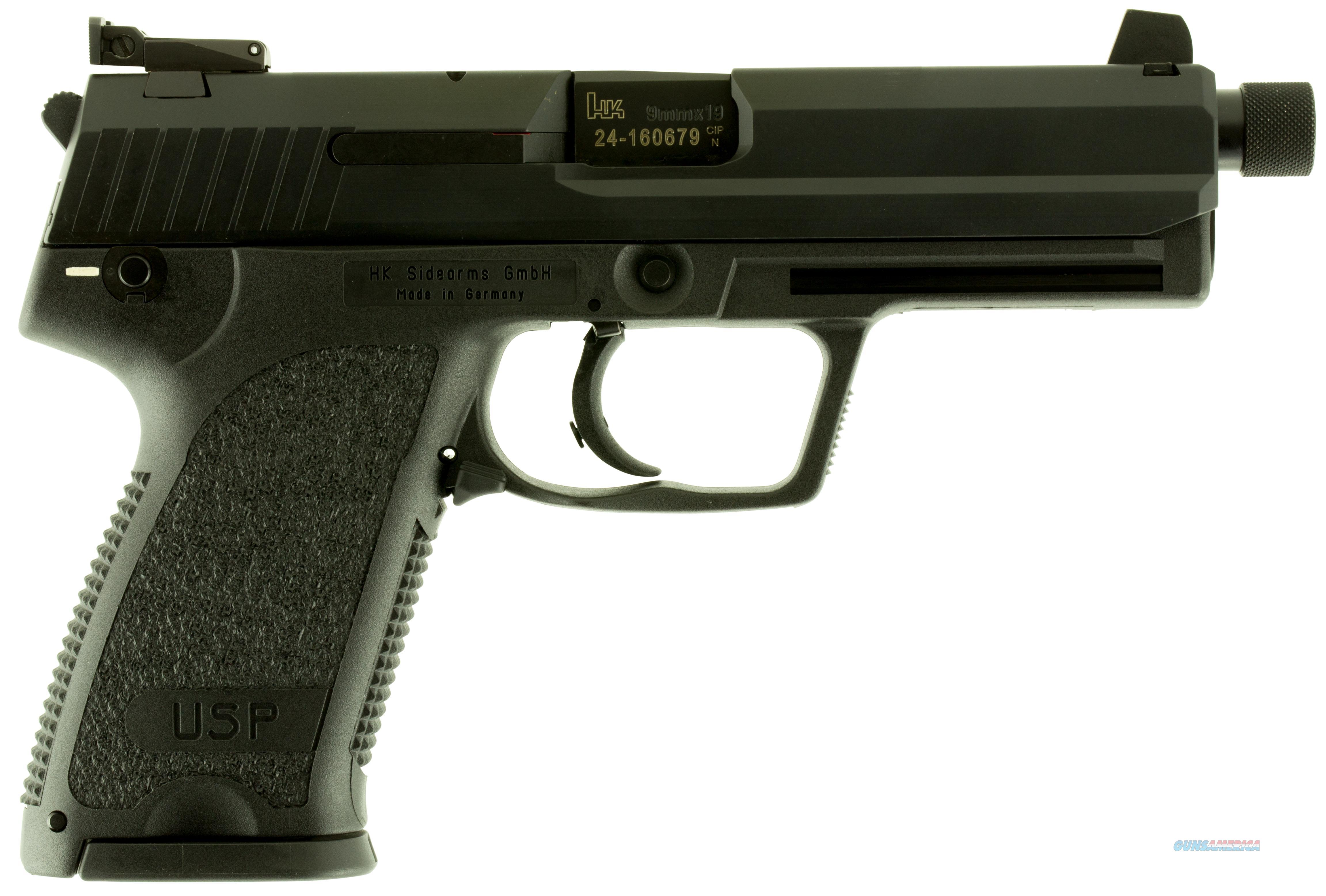 "Heckler & Koch 709001Ta5 Usp Tactical Double 9Mm 4.9"" 10+1 Polymer Grip Black 709001T-A5  Guns > Pistols > H Misc Pistols"