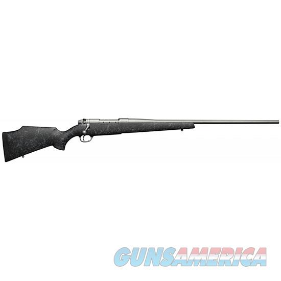 "Weatherby Mwms7mmwr6o Mark V Weathermark Bolt 7Mm Weatherby Magnum 26"" 3+1 Synthetic Blk W/Gray Spiderweb Stk Gray Cerakote MWMM7MMWR6O  Guns > Rifles > W Misc Rifles"
