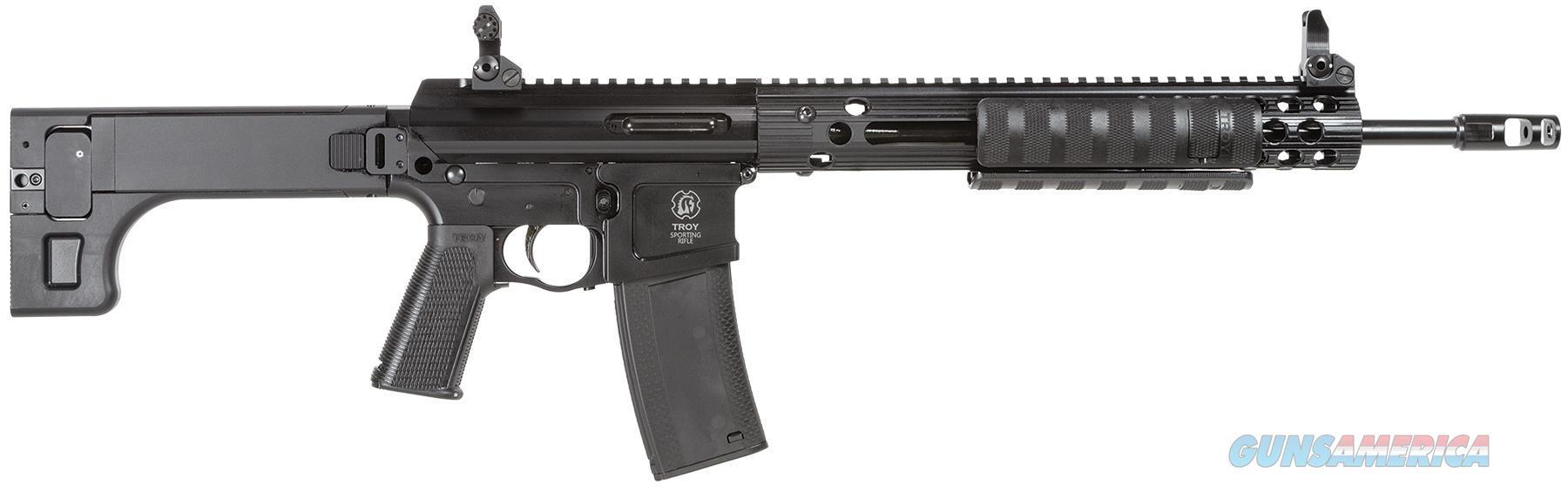 "Troy Spmpar000bt Par Sporting Rifle Pump 223Rem/5.56 16"" Mb 10+1 5Pos Stk Black SPMP-AR0-00BT-00  Guns > Rifles > TU Misc Rifles"