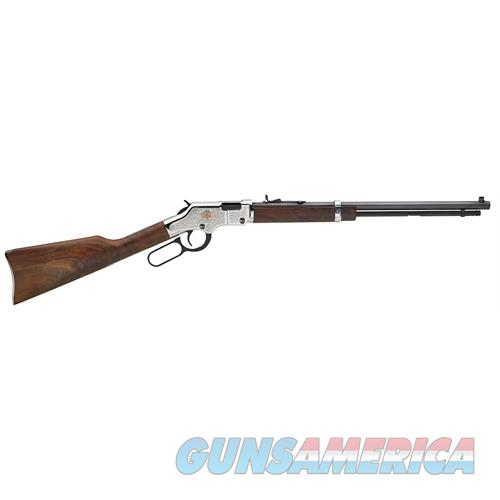 "Henry H004ab Engraved American Beauty Lever 22 Short/Long/Long Rifle 20"" 16 Lr/21 Short Walnut Stk Blued Barrel/Nickel Receiver H004AB  Guns > Rifles > H Misc Rifles"