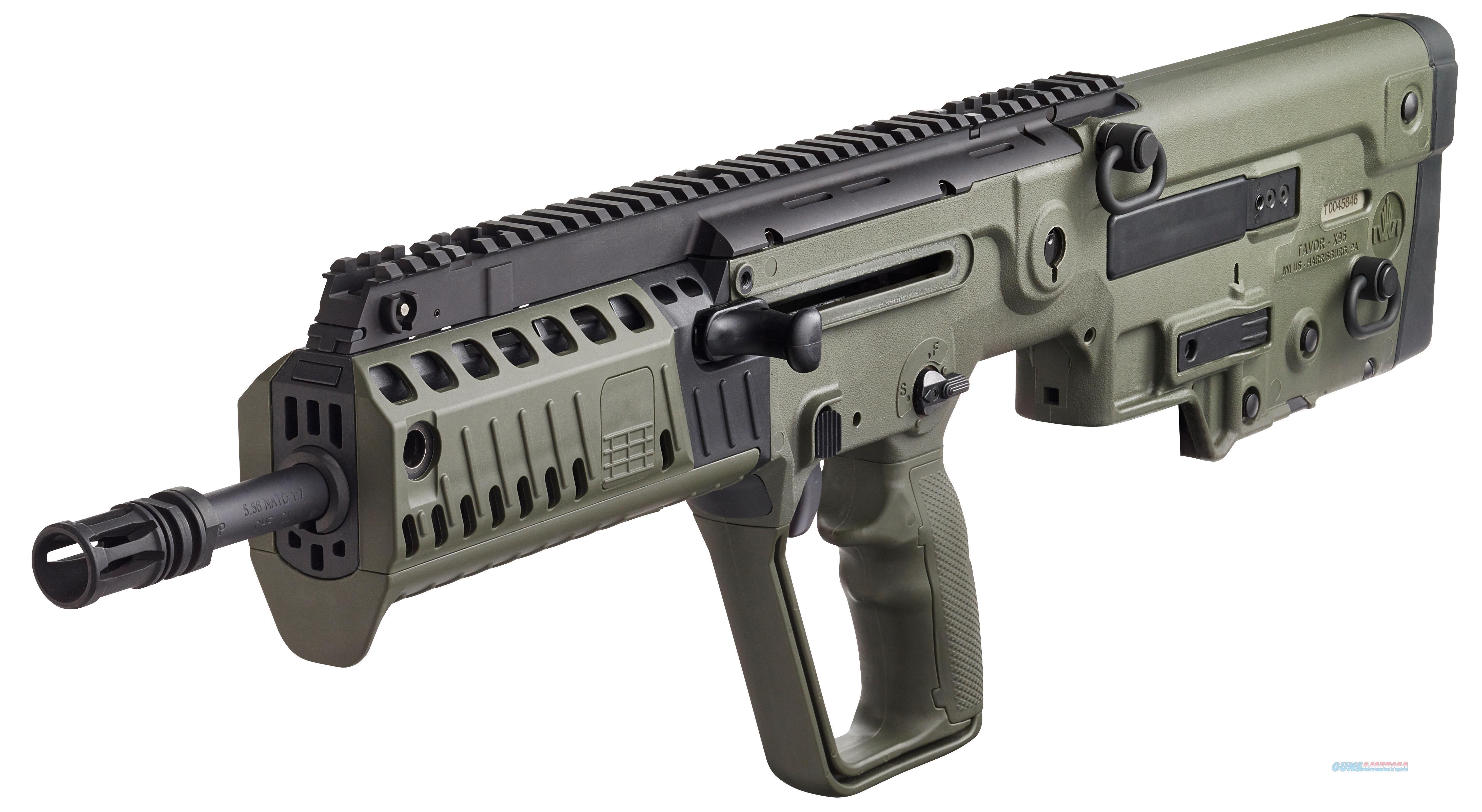 """Iwi Us Xg18 Tavor X95 Semi-Automatic 223 Remington/5.56 Nato 18.5"""" 30+1 Polymer Bullpup Od Green Stk Black XG18  Guns > Rifles > IJ Misc Rifles"""