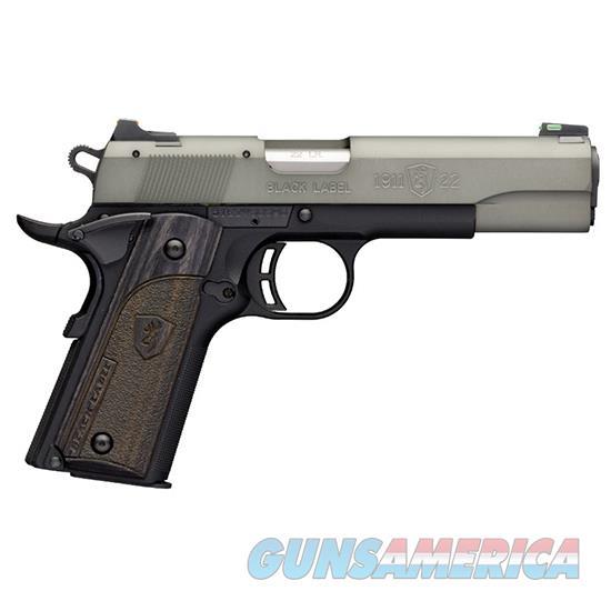 Browning 1911-22 Blk Label Fs 22Lr 4.25 Gry Fos 10Rd 051847490  Guns > Pistols > B Misc Pistols