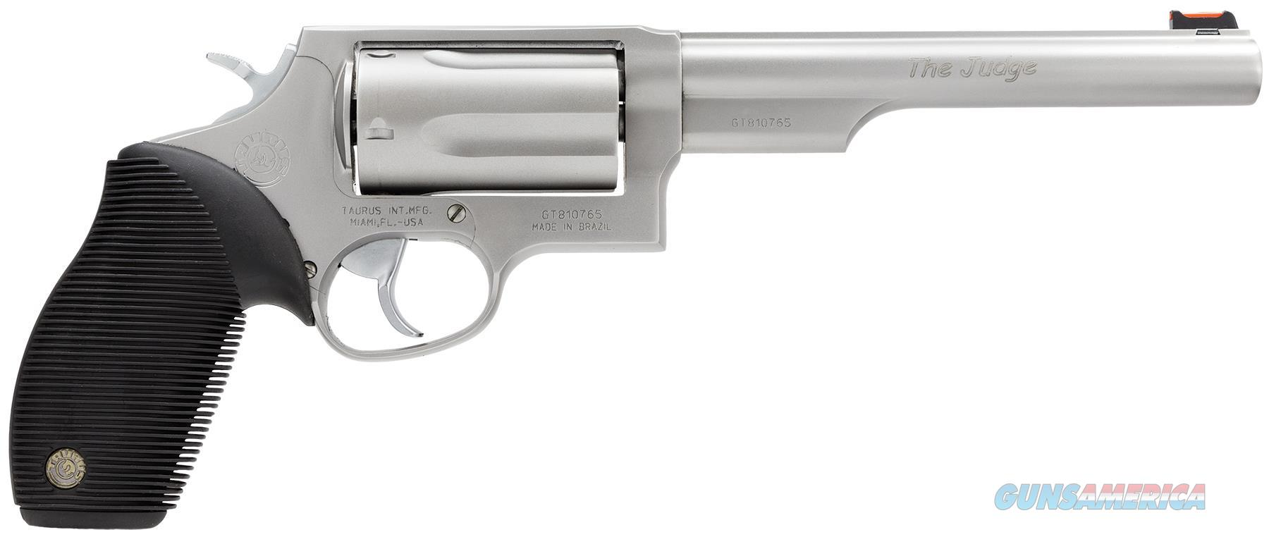 "Taurus 2441069T Judge 45/410 Single/Double 45 Colt (Lc)/410 6.5"" 5 Rd Black Ribber Grip Stainless Steel 2-441069T  Guns > Pistols > TU Misc Pistols"
