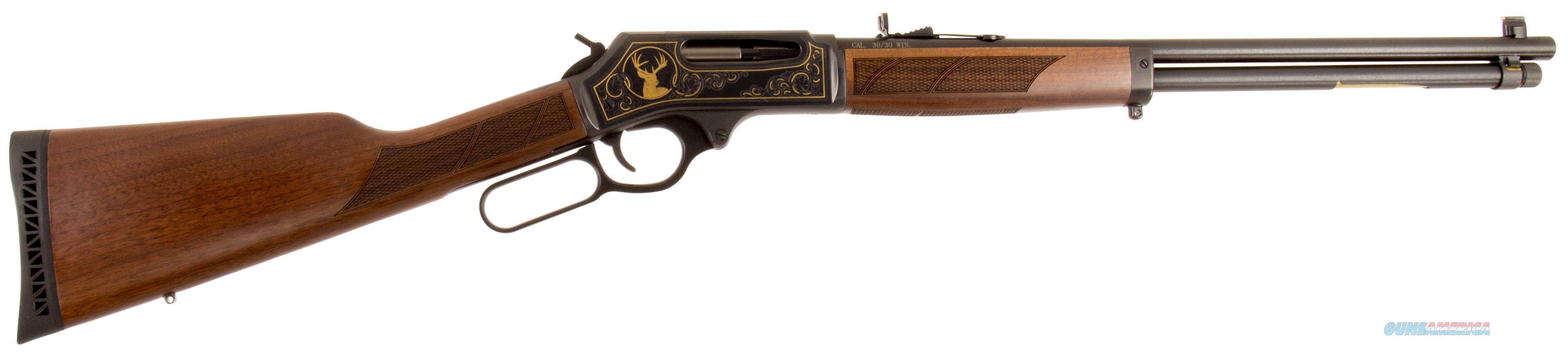 "Henry H009wl Large Caliber Wildlife Edition Lever 30-30 Winchester 20"" 5+1 American Walnut Stk Blued H009WL  Guns > Rifles > H Misc Rifles"