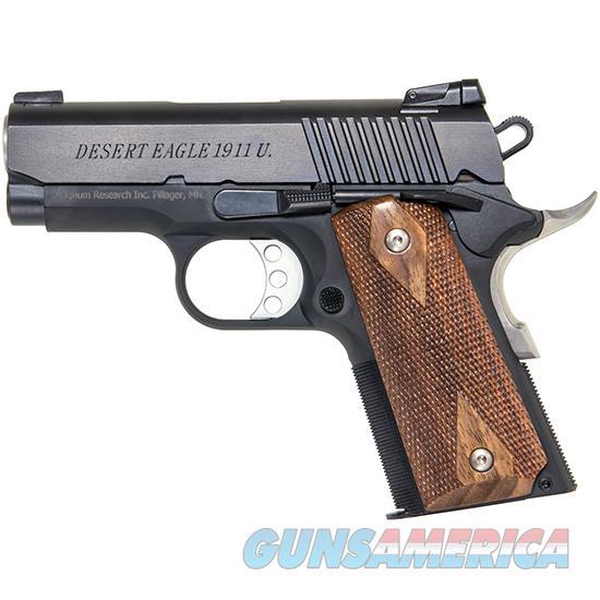 Magnum Research Desert Eagle 1911 Semi Auto Pistol 45 Acp, 3 In, Wood Grp, 6+1 Rnd, Blk Frame DE1911U  Guns > Pistols > MN Misc Pistols