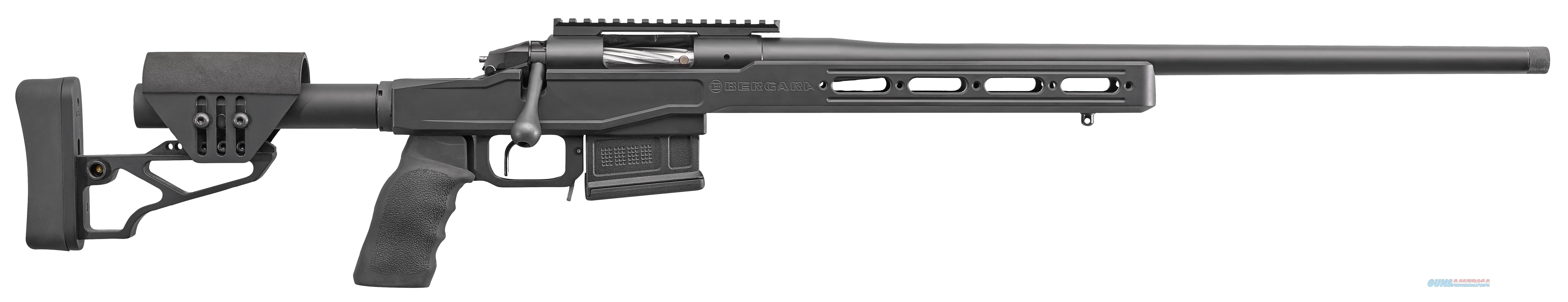"Bergara Rifles Bpr17308c Bpr-17 Premier Lrp Bolt 308 Winchester/7.62 Nato 20"" Tb 5+1 Synthetic Adjustable/Aluminum Chassis Black Stk Black Nitride/Black Cerakote BPR17308C  Guns > Rifles > B Misc Rifles"