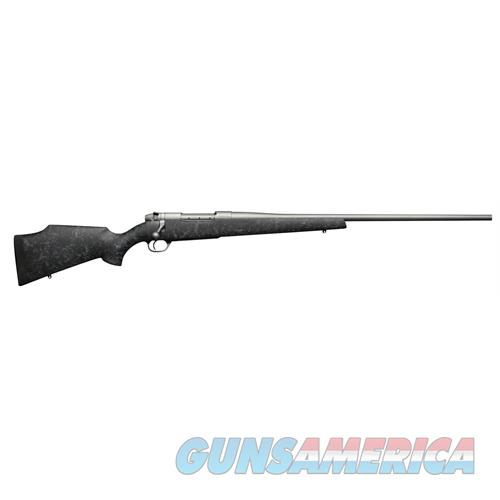 "Weatherby Mwmm375hr4o Mark V Weathermark Bolt 375 Holland & Holland Magnum 24.0"" 3+1 Synthetic Blk W/Grey Spiderweb Stk Stainless MWMM375HR4O  Guns > Rifles > W Misc Rifles"