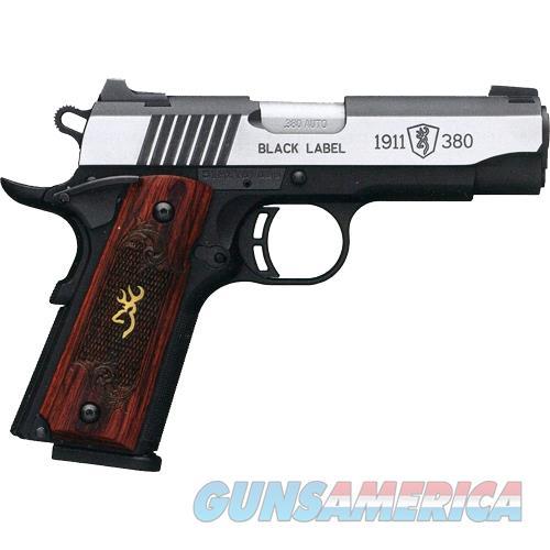 "Browning Black Label Medallion Pro 1911 .380Acp 3.62""Night Sights 051915492  Guns > Pistols > B Misc Pistols"