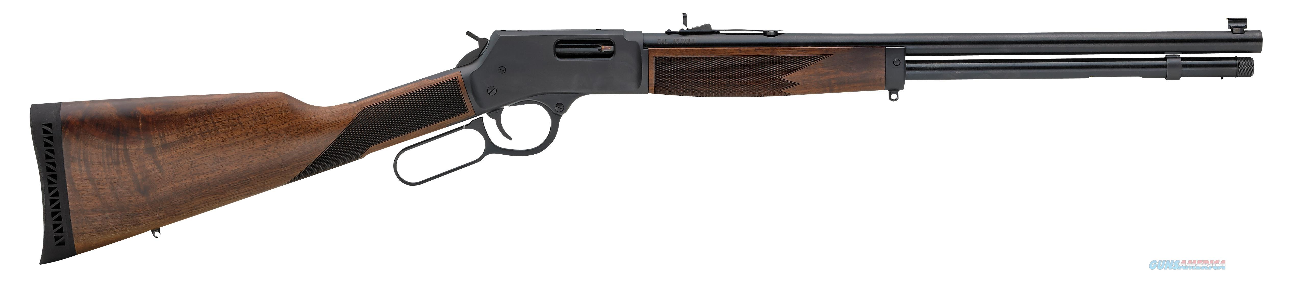 "Henry H012r Big Boy Steel Carbine Lever 44 Remington Magnum 16.5"" 7+1 American Walnut Stk Blued H012R  Guns > Rifles > H Misc Rifles"