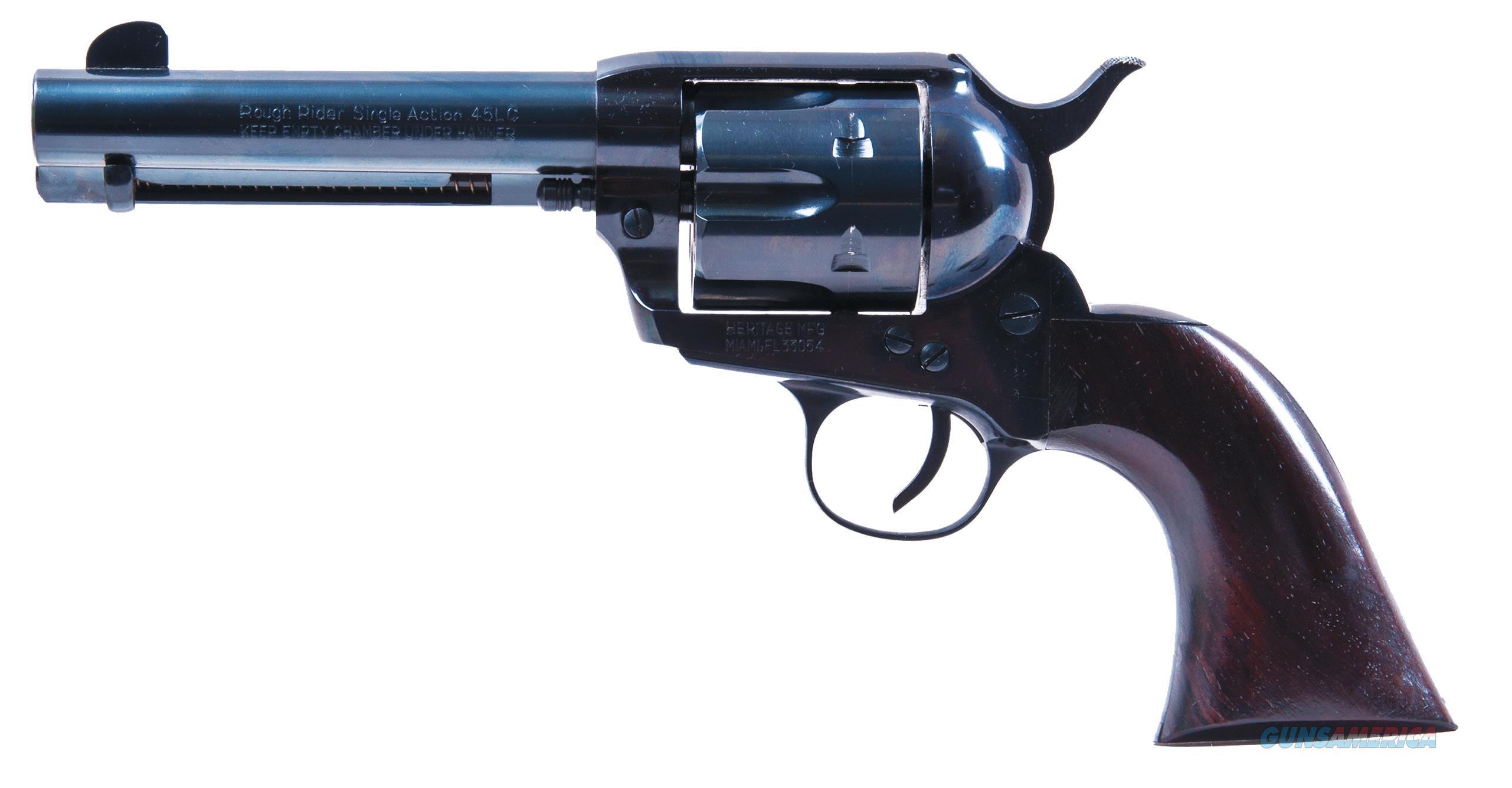 "Heritage Mfg Rr45b4 Rough Rider Big Bore Single 45 Colt (Lc) 4.75"" 6 Cocobolo Blued RR45B4  Guns > Pistols > Heritage"
