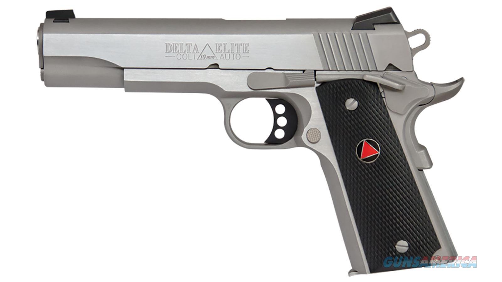 """Colt Mfg O2020xe 1911 Delta Elite Single 10Mm 5.0"""" 8+1 Grip Stainless O2020XE  Guns > Pistols > C Misc Pistols"""
