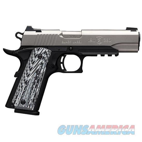 Browning 1911-380 Blk Label Pro Ss 380Acp Fsrl 4.25 051923492  Guns > Pistols > B Misc Pistols