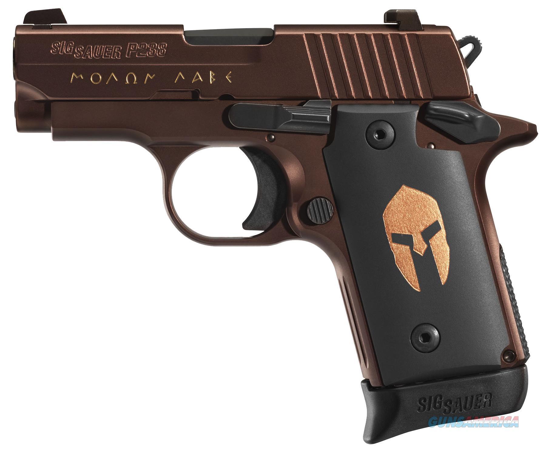 "Sig Sauer 238380Sparta P238 Micro-Compact Spartan Single 380 Automatic Colt Pistol (Acp) 2.7"" 7+1 Black Spartan Grip Bronze Pvd Stainless Steel 238-380-SPARTAN  Guns > Pistols > S Misc Pistols"